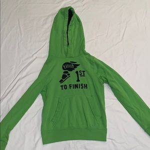 """Abercrombie Green """"1st TO FINISH"""" Hoodie Kids M"""